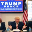 Republican presidential candidate Donald Trump holds a Hispanic advisory roundtable meeting in New York, Saturday, Aug. 20, 2016. (AP Photo/Gerald Herbert)