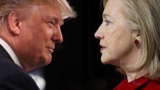 trump-clinton-face