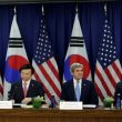 U.S. Secretary of State John Kerry (2nd R) and Defense Secretary Ash Carter (R) hold a 2+2 ministerial meeting with South Korea's Minister of Foreign Affairs Yun Byung-se and Minister of National Defense Han Min-koo (L) at the State Department in Washington, U.S. October 19, 2016. REUTERS/Yuri Gripas